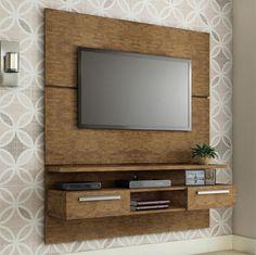 O painel para TV, é perfeito para quem deseja decorar um ambiente pequeno com praticidade e beleza. ;)     #decoração #design #madeiramadeira