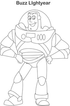 Buzz Lightyear Coloring Pages | Buzz lightyear coloring page for kids: Toys coloring pages for kids