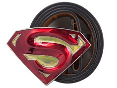 3D Superman Belt Buckle In Red And Gold....hmmm, possible present for the hubby.