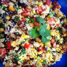 Easy, fast, healthy, delicious, Mexican quinoa salad.
