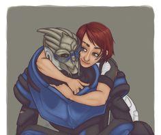 Shepard x Garrus by *Tell-Me-Lies on deviantART