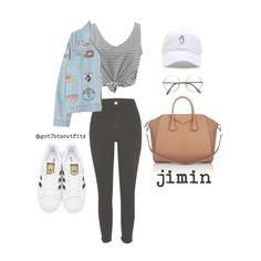 """BTS Seasons: Spring w/ Jimin"" by kimtaehyung ❤ liked on Polyvore featuring River Island, WithChic, Chicnova Fashion, adidas Originals, Givenchy, kpop, bts, BangtanBoys, bangtan and jimin"