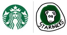 10 famous logos amusingly drawn from memory