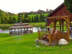 Numerous, relaxing sitting areas.  hamilton ny outdoor weddings.www.peaceful'inesbandb.com Pine Beds, Outdoor Wedding Venues, Beautiful Sunrise, Lake View, Bed And Breakfast, Hamilton, Relax, Wedding Ideas, Rustic