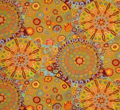 coupon-de-tissu-patchwork-kaffe-fassett-millefiore-orange-45x55cm