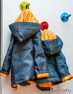 Riinun: Kierrätystä ja samistelua Rain Jacket, Bomber Jacket, Refashion, Windbreaker, Denim, Sewing, Jackets, Down Jackets, Dressmaking