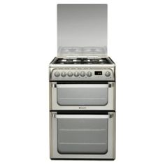 Buy Hotpoint HUD61XS, 60cm, Inox, Gas Cooker, Double Oven from our Free Standing Cookers range - Tesco.com