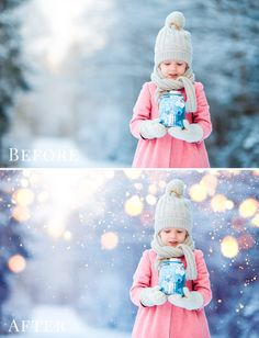 Great for holiday season & Christmas pictures - style amazing scenes with fabulous atmosphere PACKAGE DETAILS: 40 different Christmas bokeh photo overlays 20x colored & 20x BW overlays JPG files with black background - super easy to apply suitable for photos up to 5000 x 3500px and smaller 300 dpi - high resolution, great for prints very easy to use & realistic result