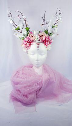 Hydrangea Easter or Kentucky Derby Flower Headpiece Dramatic Magnolia