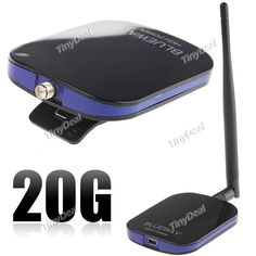 Black 20G USB2.0 Mini IEEE 802.11b/ g 1000mW 54Mbps Soft AP Wireless USB LAN Card with 7dBi Antenna - Color Assorted CNP-6275