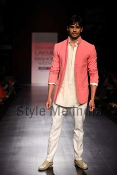 B'wood's new entrant Siddharth Malhotra make his mark as he walks the ramp for fashion designer Manish Malhotra on Day 2 of the Lakme Fashion Week (LFW) Summer Resort 2013