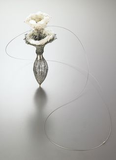 Eunju Park Necklace: Embrace 3, 2006 925 silver, thread, scales 90 x 680 x 40 mm