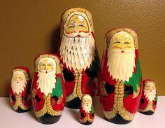 Matryoshka Santas