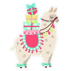 This sweet 'Print and Cut' Christmas Llama is perfect for decorating, cards, tags, gift toppers, scrapbooks and more! Llama Christmas, Christmas Signs, Christmas Crafts, Alpacas, Llama Arts, Llama Birthday, Llama Alpaca, Christmas Drawing, Pet Rocks