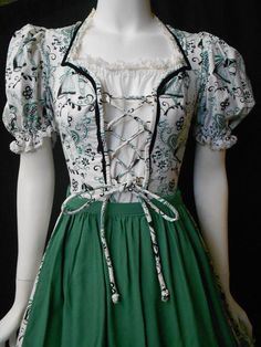 Vintage Authentic Dirndl German Full Skirt Lace by ACollectiveNest, $85.00