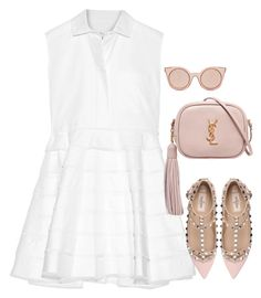 """Untitled #343"" by moniquitabl on Polyvore featuring Carven, Yves Saint Laurent, Valentino and Fendi"