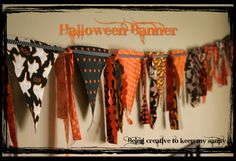 How cute is this? And totally able to be adapted for any season or holiday. Via BeingCreativeToKeepMySanity.blogspot.com #Banner #Halloween #Fall
