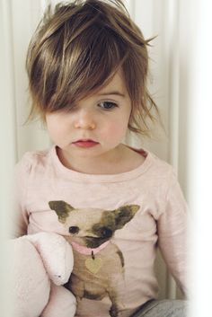 For Nora? Layered short hair. For the little girl who doesn't have time for tangles and brushes.