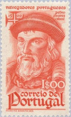Stamp: Pedro Alvares Cabral (c. 1468-1520) (Portugal) (Navigators) Mi:PT 677,Sn:PT 646,Afi:PT 648