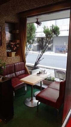 ゆうらく(浅草橋) Diner Aesthetic, Retro Interior Design, Sidewalk Cafe, American Diner, Cafe Bistro, Interior Concept, Cafe Shop, Architecture, Room