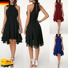 Kunstleder Minikleid schwarz Übergröße Neckholder 38 40 42 44 46 48 50 52 54 56