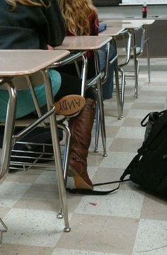 """Write """"ANDY"""" on the bottom of a boot. Toy Story love. ♥"""