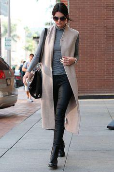 Long sleeveless vest