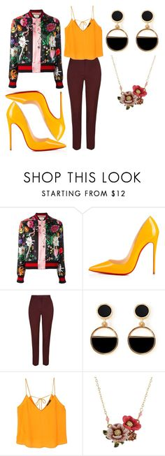 """""""Untitled #295"""" by jan-fr ❤ liked on Polyvore featuring Gucci, Christian Louboutin, Warehouse, MANGO and Les Néréides"""