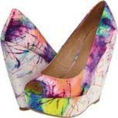 Splattered heels, pretty!