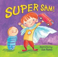 By: Lori Ries / Illustrated by: Sue Rama The joy of sibling revelry. Petey's big brother is a hero. Is he Superman? Spiderman? The Green Hornet? Better than all of these—he's Super Sam! With a bountif