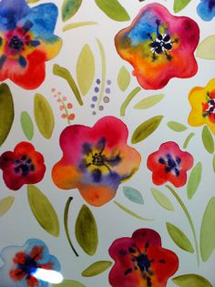 water color flowers...