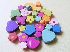 Adorable mix of wooden children's beads