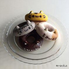 かわいいおやつ #イクミママのどうぶつドーナツ #doughnuts #catsofinstagram by mirotus