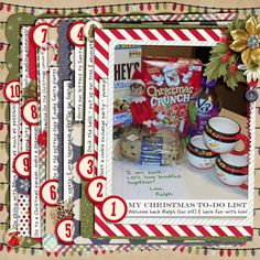 Christmas To-Do  Kit: Everyday Life December by Juno Designs: http://scraporchard.com/market/Everyday-Life-December-Bundle.html   Template by Scrapping with Liz: http://scraporchard.com/market/List-Digital-Scrapbook-Templates.html
