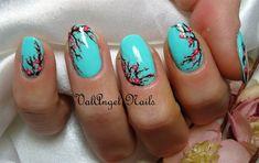 "Nail Art ""Cherry Blossoms"" by ValangelNails - Nail Art Gallery nailartgallery.nailsmag.com by Nails Magazine www.nailsmag.com #nailart"