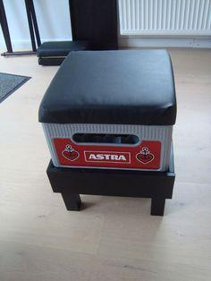 Meine Bank heißt Astra! Bierkisten-Hocker