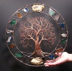 Metal tree wall art Circle of Life Passage Tree by CrowsFeathers