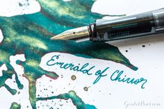 Goulet Pens Blog: J. Herbin Emerald of Chivor: Ink Review