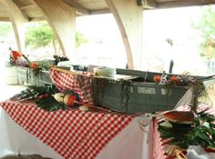 Clambake Buffet David's Catering and Events Pig Roast, Catering, Buffet, Menu, Decor Ideas, Craft Ideas, Events, Entertaining, Dinner