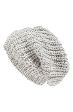 Chunky Knit Slouch Hat | @Nordstrom
