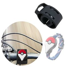 Attach your Pokémon GO Plus device to your bike's handlebars easily and…http://poke-mall.com/product/black-bicycle-handlebar-mount-kit-for-the-pokemon-go-plus-secured-with-strong-cable-ties-by-duragadget/