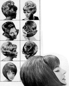 Vintage Hairstyles: Easy Pin Curl Set for Retro Waves 1960 Hairstyles, Classic Hairstyles, Curled Hairstyles, Vintage Hairstyles, Styling Mousse, Retro Updo, 1960s Hair, Bouffant Hair, Retro Waves