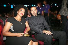 ♛Divalocity♛.  Humanitarian Award winner Jesse Williams and wife Aryn attend the 2016 BET Awards at the Microsoft Theater on June 26, 2016 in Los Angeles, California