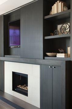 entertainment & fireplace unit