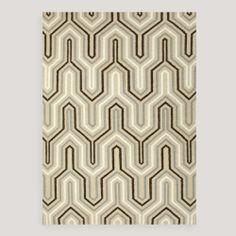 stair runner -- Light Gold Kienna Flat-Woven Wool Rug | World Market
