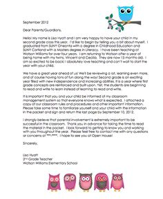 Student Teacher Ms. Tiffany Hedrick: Introduction Letter ...
