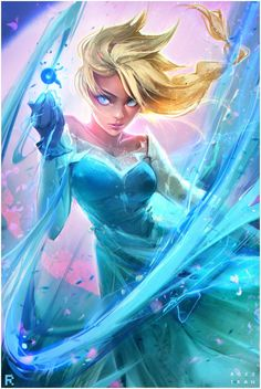 Elsa - Frozen fan art by Ross Tran Disney Fan Art, Disney Princess Art, Disney Love, Disney Magic, Disney Princess Warriors, Princess Moana, Frozen Fan Art, Disney And Dreamworks, Disney Pixar