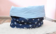 Bean Bag Chair, Furniture, Etsy Shop, Home Decor, Wood Dog Bed, Sleepsack, Cuddling, Cotton, Blue