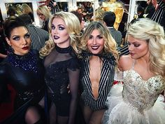 Check out these lovely ghouls! @allisonholker @lindsarnold @emmaslaterdance @witneycarson
