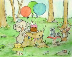 Happy Party To Us Archival Print Children's by trafalgarssquare